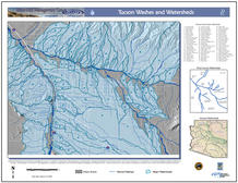 Do you know your local watershed? This large-format map shows subwatersheds throughout the Tucson Basin.
