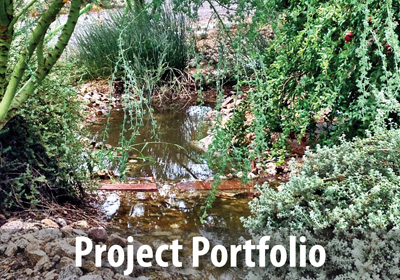 View a portfolio of WMG's water-harvesting landscape work in Tucson and Phoenix.