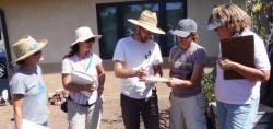 Course participants conduct a site assessment.
