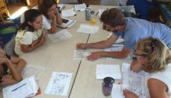 Developing a water harvesting site plan based on a site assessment.