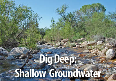 Dig Deep - Learn about Shallow Groundwater areas