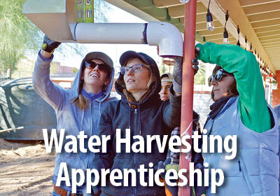 The Water Harvesting Apprenticeship program provides a valuable opportunity to grow skills and confidence in water harvesting system construction for career development.