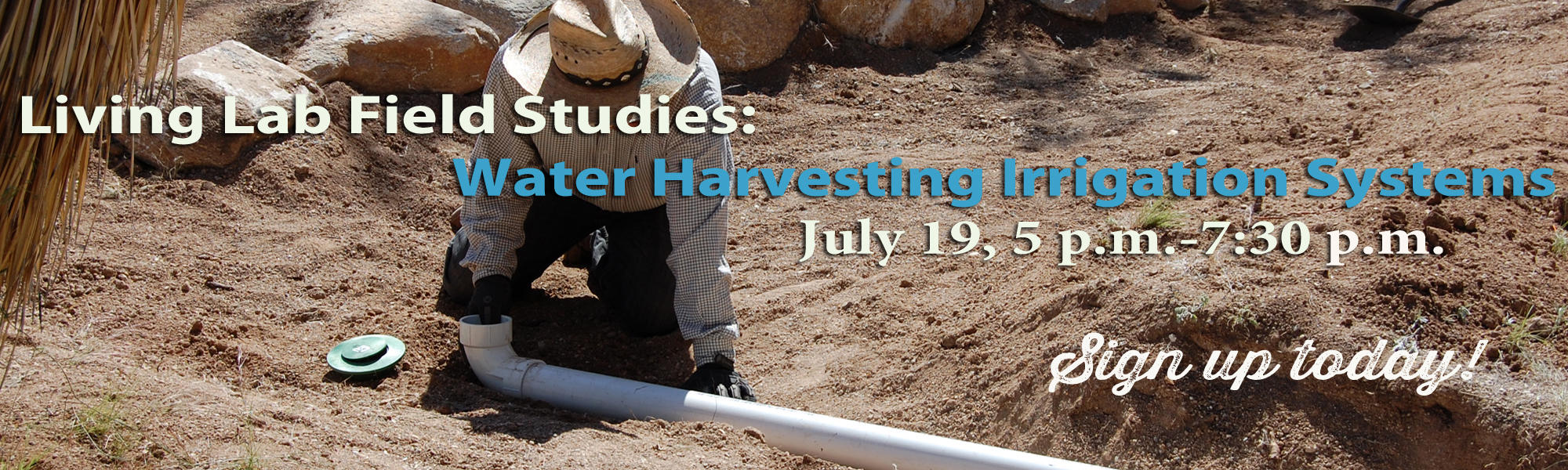 Water harvesting irrigation class