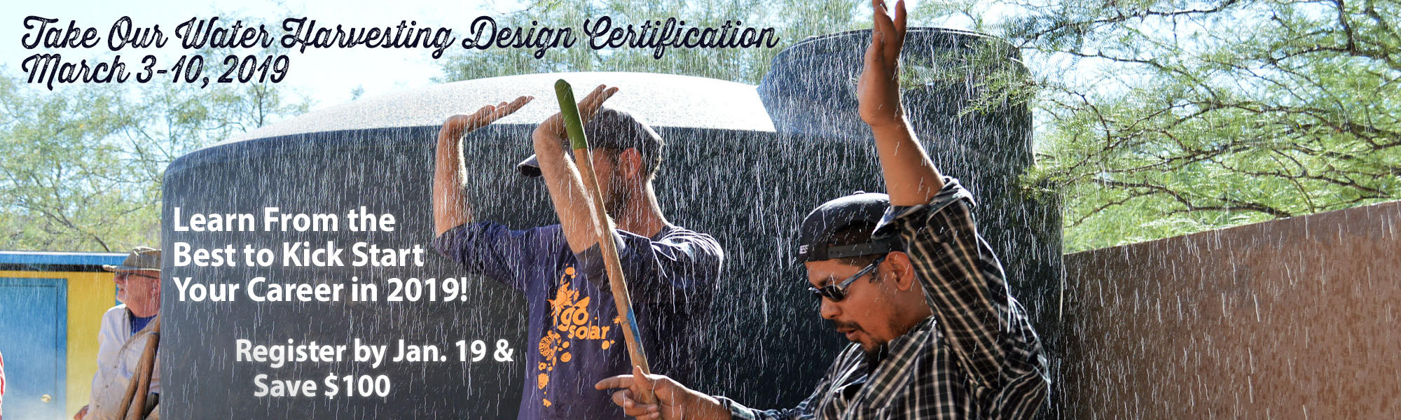 Water Harvesting Design Certification March 2019