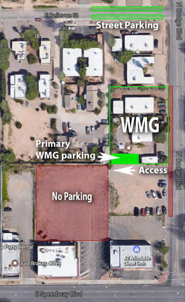 Parking map for the Living Lab and Learning Center