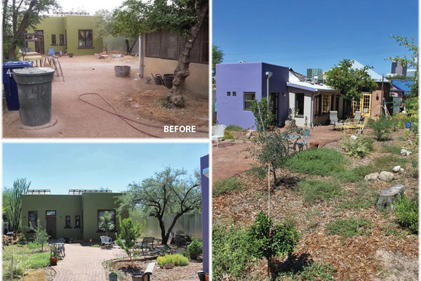 This 2015 WMG Design Build project transformed a barren lot into a backyard oasis with rain gardens, greywater, and more.