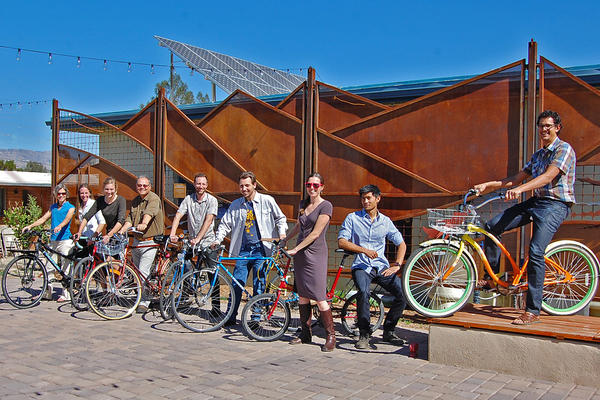 WMG staff and their bicycles!