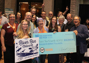 We're all smiles about the River Run Network winning the SVP Tucson Award!
