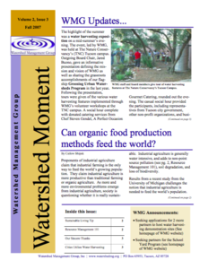 2007 Fall WMG Newsletter cover