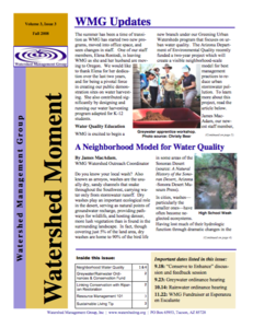 2008 Fall WMG Newsletter cover