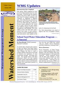 2008 Summer WMG Newsletter cover