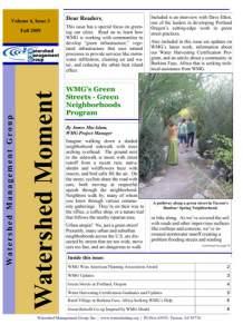 2009 Fall WMG Newsletter cover