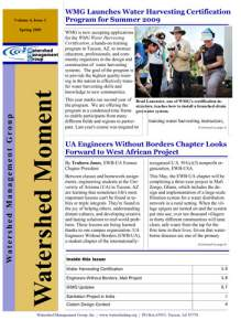 2009 Spring WMG Newsletter cover