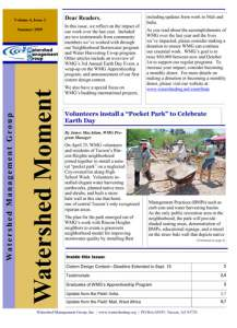 2009 Summer WMG Newsletter cover