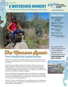 2014 Fall WMG Newsletter cover