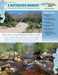 2015 Spring WMG Newsletter cover