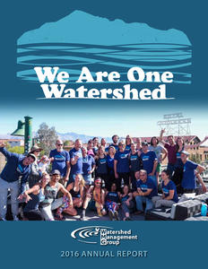 2015 WMG Annual Report: We Are One Watershed cover