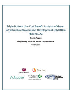 Cover of Triple Bottom Line Cost Benefit Analysis of Green Infrastructure/Low Impact Development (GI/LID) in Phoenix, AZ