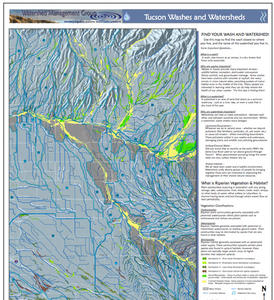 Thumbnail of Eastern Tucson Region Washes and Watersheds Map