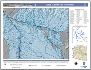 Tucson Washes and Watersheds Map