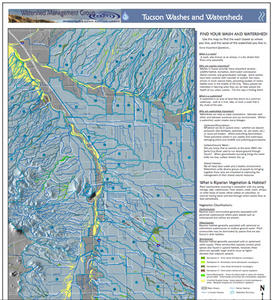 Thumbnail of Western Tucson Region Washes and Watersheds Map
