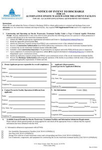 Cover of Composting Toilet Permit Application for Pima County