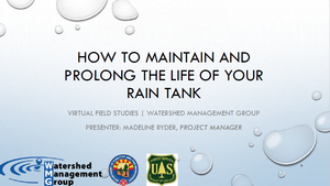 How to Maintain and Prolong the Life of Your Rain Tank
