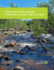 Lower Sabino Creek Economic Valuation Report cover