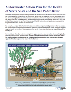 A Stormwater Action Plan for the Health of Sierra Vista and the San Pedro River cover