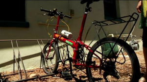 Lisa'a bicycle at Watershed Management Group headquarters