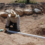 Learn the joys, and technical details, of irrigating with harvested rain water.