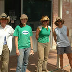 2006: WMG receives first grant to develop six water-harvesting demonstration sites in Tucson and Lisa Shipek becomes Executive Director (2nd from left). Working at Ward 3 Council office to complete rain gardens