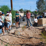"2009: Neighborhood-scale green infrastructure model created in Tucson, transforming 10 city blocks in Rincon Heights neighborhood through 12 workshops with 200 volunteers. Project wins ""Making Arizona Competitive in the 21st Century Award"" from American Planning Association."