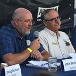 Panelists John Windes (left, with AZ Game & Fish) and Jeff Simms with Bureau of Land Management.
