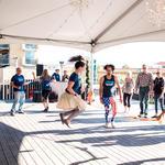 Deborah Oslik rocks the jump rope!