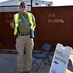 Parking personnel love to see incoming happy faces.