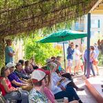 Master Naturalist, Eric Dhruv from Ironwood Tree Experience, gives a porch talk.