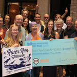 Staff, founders, and board members are all smiles about the River Run Network winning the $10,000 SVP Tucson Award!