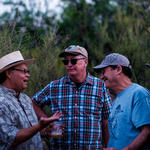 WMG Cultural Ecologist Joaquin Murrieta-Saldivar and friends enjoying a laugh before dinner