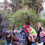 Riparian trees make great hang-out spots for kids!
