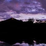 A Mountain at dusk. Photo by Julius Schlosburg