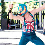 WMG supporter and former staff member Stephen Thomas as un luchador