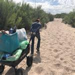 """We were in the Rillito on River and La Canada, which is where we do our daily walk with our dogs, where we are always overwhelmed by the amount of trash. It feels like we can never get ahead of it."" - Hilary M. & Stephen A."