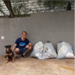 """We picked up three bags of trash from the Arroyo Chico watershed and the Barrio San Antonio neighborhood until it got too rainy looking to be hanging out in a riverbed. We all had a great time."" - Kyle P."