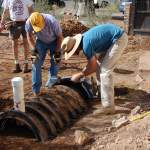 Buried infiltration chambers are perfect for kitchen resource drain greywater systems.