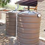 Plastic rain tanks can be installed in chains to increase your storage capacity.