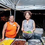 Board member Sandra Bernal Cordova and WMG volunteer Marina dished out the delicious food.
