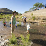 Happy kids & adults at the Santa Cruz River release! Photo by Nicci Radhe