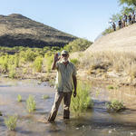 WMG's River Restoration Biologist Trevor Hare. Photo by Nicci Radhe