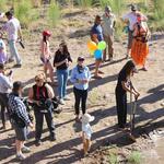 WMG's Deborah Oslik, center, celebrates the Santa Cruz River release! Photo by Jamie Manser